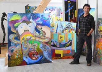 Jean D'Hau portrait à l'atelier