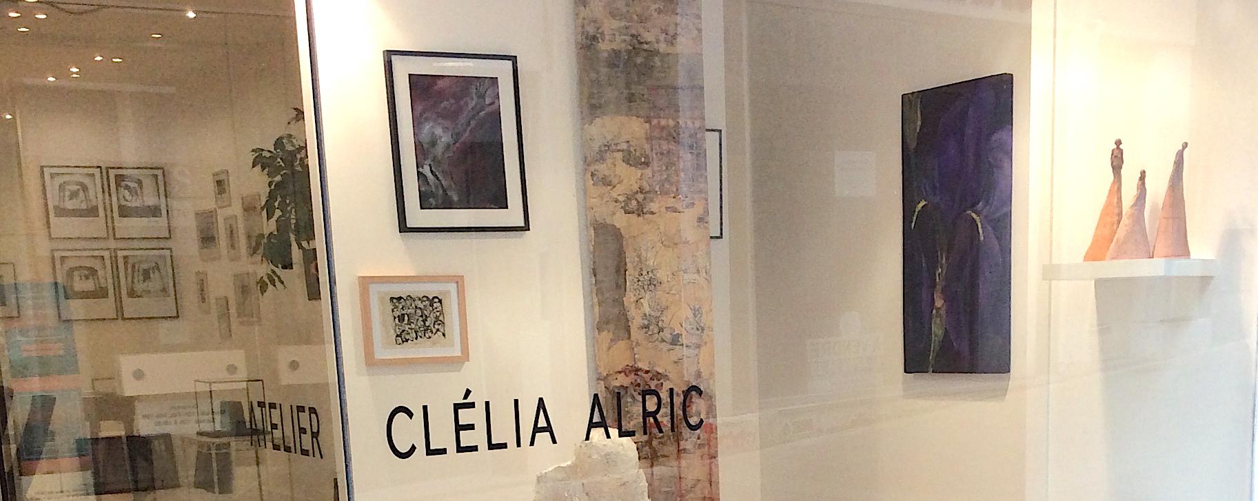 vitrine de l'Atelier Clélia Alricn à Niort
