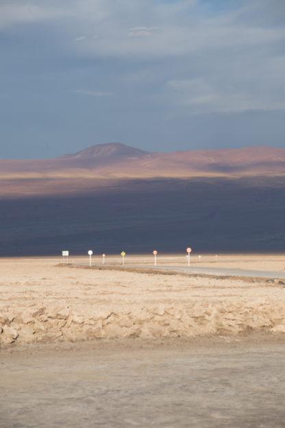 Photographie de voyage, la route dans le désert d'Atacama